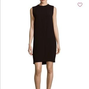 Vince Classic Black Shift Dress Pockets Size 8